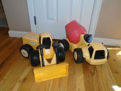 "Vintage Little Tikes Tractor Front End Loader, Dump Truck & Cement Truck- 22"" Each- 3 - $70"