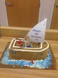 Little Sail Boat Cake