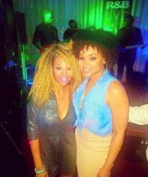 Angel Brockman attend the R&B LIVE Presents Demetria McKinney - Movie Grill