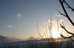 Jan 10, sunset snow 2