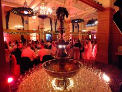 Champagne Fountain hire, serving 200 guests