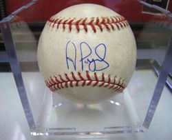 ALBERT PUJOLS 2004 Game Used Ball With SIGNING- 6/3/05 NLCS GAME 2: CARDINALS VS. ASTROS GAME USED BALL