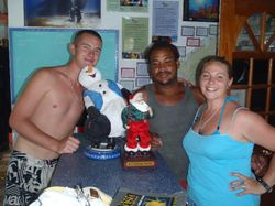 Stuart, Punsan and Polly from Dive Bequia