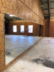 29 ft mirror wall with chrome j and L