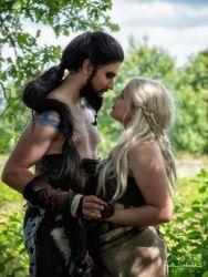 Khal Drogo en Daenerys