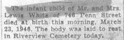 White, Infant 1946