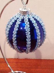 Blue Chirstmas ornament (Item #4100) $37.50