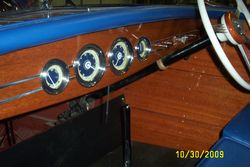 1940 blue and tan gauges