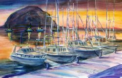 Morro Bay Harbor with Boats