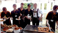 The saussages Sponsor the German Company Stihl!