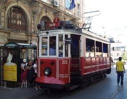 The Nostalgia Tram at Beyoglu.