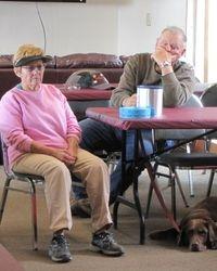 Shirley, Jon & Pumpkin Hayes - waiting for troply presentations