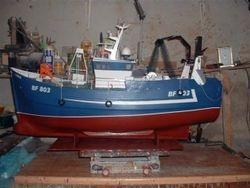 Transom stern fishing trawler
