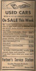Fortners Auto Sales 1957