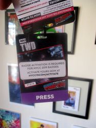 Front of New York Comic Con 2019 Press Badge