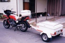 Toms XJ900 & Trailer rebuilt & repainted - Oct 1993