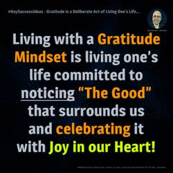Gratitude is a Deliberate Act of Living One?s Life... - #KeySuccessIdeas