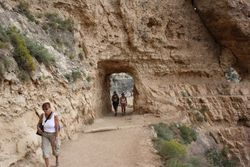 Tunnel on path at Grand Canyon