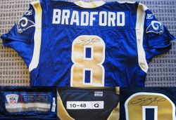 SAM BRADFORD SIGNED AUTHENTIC RAMS ROOKIE JERSEY  AUTOGRAPHED