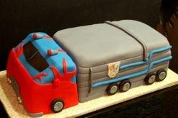Optimus prime in truck form