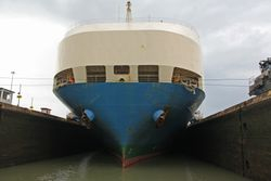 Panama Canal Cruise - ship in locks