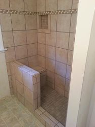tile shower 5 foot