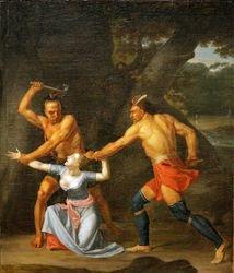 Vanderlyn, The Murder of Jane McCrea, 1804, Wadsworth Atheneum