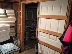 Door to pump room