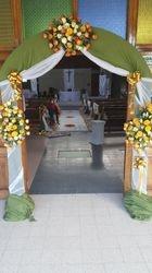 3 star arch flower for wedding