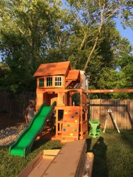 Backyard Discovery Liberty II swing set assembly in bethesda maryland