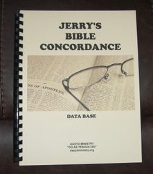 Jerry's bible concordance data base