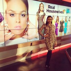 Demetria McKinney on set of Arise TV 360
