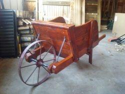 wheelbarrow - decorative, with antique wheel