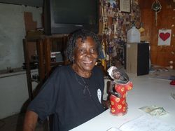 Delores, owner of Kays Bar in Rum Cay