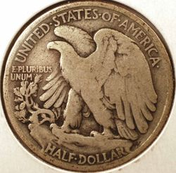 1916 Walking Liberty Half DollarVG Reverse