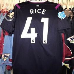 Declan Rice heads up 3rd shirt.