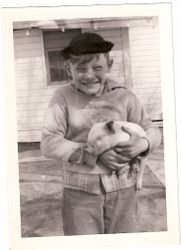 Fred and piglet 1947