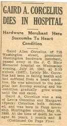 Corcelius, Gaird A. 1941 - Part 1