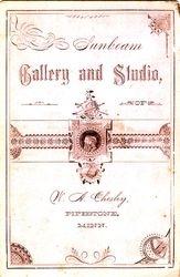 W. A. Chesley, photographer, Pipestone, Minnesota - back