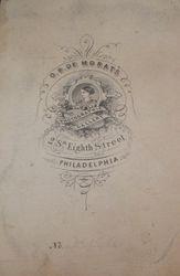 O. B. De Morat, photographer, of Philadelphia, PA