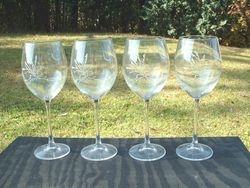 Sea Oats Wineglasses