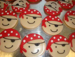 3 inch pirate cookies $4 each