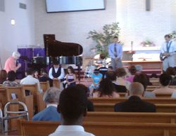 Pastor Jeanette with the kids