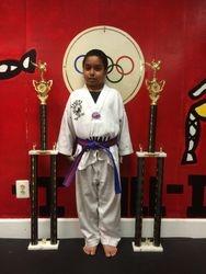 05/16/2015 S. Pavlou TKD Championships  Girish Noruthun  2nd Place Forms  2nd Place Sparring