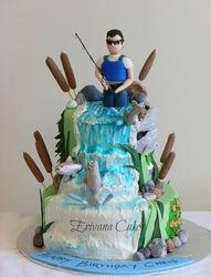 Salmon fishing cake