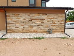 "The Granary Boulder Colorado 4"" Colorado Buff Strip Stone"