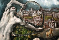El Greco, Laocoon. detail, Washington