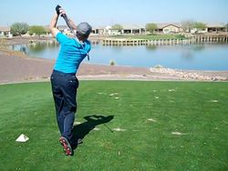 17th hole, Poston Butte Golf Course