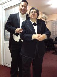 Post concert shot of both conductors