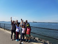 Governors Island with Statue of Liberty in the back